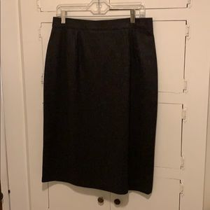 100% wool ~ dry clean only skirt